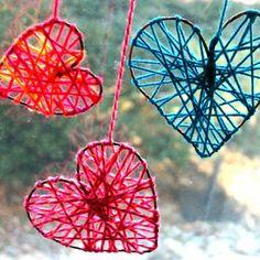 kbw_heart_weaving valentine decoration sun catchers