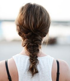 ruffled fishtail braid