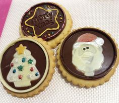 Delicious and colorful Chocolate Christmas Cookies made with Silikomart