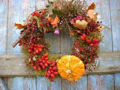 Türkranz Herbstkranz  Erntekranz Landhaus  30 cm Country Schaufensterdeko