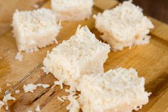 These Coconut Bars are really easy to make, and super tasty little bite sized treats. These are vegan, filled with healthy coconut, and Paleo-friendly. I love them because of their flavor. They are defiantly a coconut treat! They're deceptive too; they taste like they're filled with naughtiness, but in reality, they filled with nice!