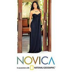 @Overstock - This strapless empire dress is designed by Galuh Kenanga. The black maxi dress has a wide elasticated back for an elegant fit and slips on.http://www.overstock.com/Worldstock-Fair-Trade/Rayon-Black-Bali-Empress-Maxi-Dress-Indonesia/6603008/product.html?CID=214117 $99.99