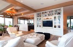 built in wall unit Love This is exactly what my beach retreat should be like!