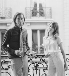 Wes Anderson and Sophia Coppola