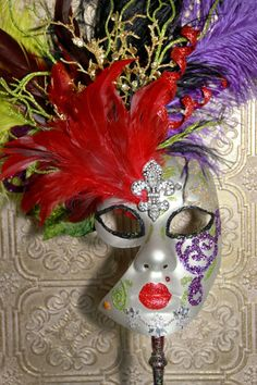 Hand made Mardi Gras mask
