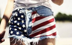 Flag Shorts for the 4th of July. Yay!