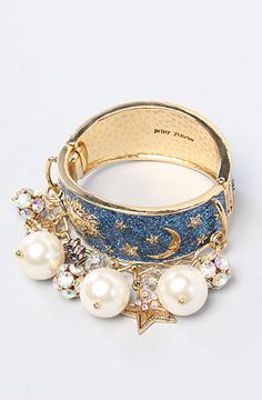 Betsey Johnson The Heavens To Betsey Pearl Baubles Bangle : Karmaloop.com - Global Concrete Culture
