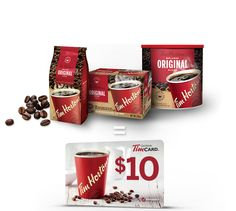 Purchase 3 eligible Tim Hortons products at your local grocery store and get a $10 TimCard®, while supplies last. (Total of 43,000 Gift Cards available)†