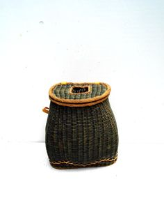 Vintage Fishing Creel Wicker Fishing Creel by PaperWoodVintage, $109.00