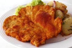 Snitel de porc Romanian Food, Cordon Bleu, Cauliflower, Favorite Recipes, Meat, Chicken, Vegetables, Mariana, Pork