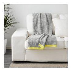 LISAMARI Throw, light gray, yellow - IKEA
