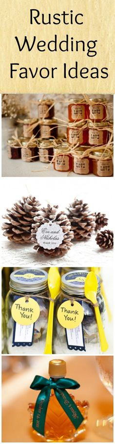 Rustic Wedding Favor Ideas