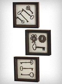 Key Collection Wall Art Set of 3