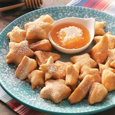 Sopapillas. This recipe is actually vegan...not healthy at all but vegan. If you don't use honey in your diet then sub it with agave nectar. Oh, and obviously use veg shortening/oil.