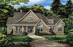 Check out the front rendering of home plan 1408.