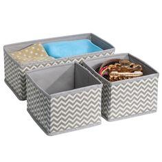 Set 3Pcs abric Storage Bin Basket Box Closet Wardrobe Dresser Drawer Organizer | eBay