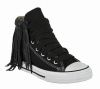 Kettle Black Fringe Sneakers | Fringed Converse All-Stars  CUTE***