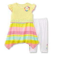 Young Hearts Girls Tunic and Leggings Set Floral Striped Yellow Multi size 6 NEW  14.99 free us shipping http://www.ebay.com/itm/Young-Hearts-Girls-Tunic-and-Leggings-Set-Floral-Striped-Yellow-Multi-size-6-NEW-/232422678805?ssPageName=STRK:MESE:IT
