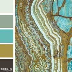 The only thing we love more than this color palette is the Stone Cut Mural it is inspired by!
