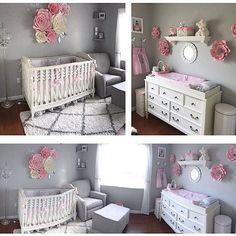 Nursery! #itsagirl #nursery #nurserydecor #nurseryinspo #projectnursery #madewithmichaels #paperflowers #paperflowerbackdrop #paperflowerwall #flowerwall #etsy #etsyshop #love