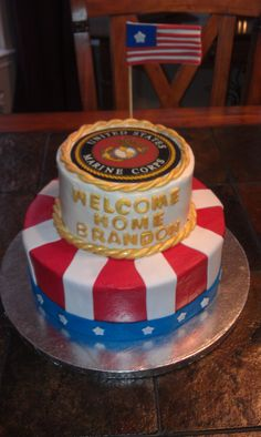 Welcome Home cake for Marine