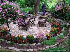 Image result for amenajare curte cu trandafiri