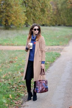 We're loving EJSTYLE 's look in our Camel Coat #riverisland #bloggerstyle