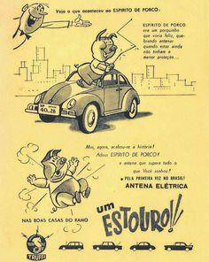 Antenas Truffi (Espírito de Porco) - Anos 50 e 70 - Propagandas Históricas…
