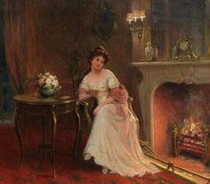 Kendrick, Sydney Percy (b,1874)- By Fireside -2d