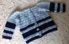 Saco de hilo para bebé, realizado en crochet