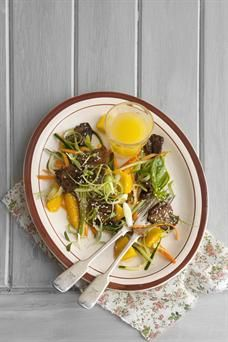 Food & Home Entertaining   Sweet and sticky Thai stir-fried pork belly and mango salad