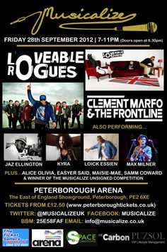 Musicalize Peterborough - September 2012 @ Peterborough Arena with Loveable Rogues & Clement Marfo & The Frontline headlining