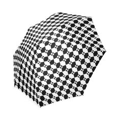 Funky Black & White Diamond Pattern Foldable Umbrella Diamond Pattern, Umbrellas, Retro Style, Retro Fashion, I Shop, Black And White, Unique, Model, Accessories