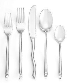 Gourmet Settings Flatware, Seashell 20 Piece Set - Flatware & Silverware - Dining & Entertaining - Macy's Back To University, Flatware Set, Sea Shells, Dining, Tableware, Kitchen, Entertaining, Heart, House