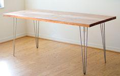 desk - love the hairpin legs!