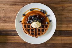 Pancakes vs. Waffle—How about a combo? Get the recipes: http://chfstps.co/1EmbAWw
