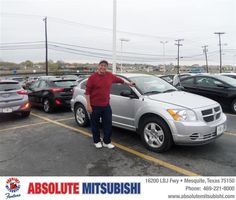 #HappyAnniversary to Renaldo Lopez on your 2011 #Daimler Dodge #Caliber from Brandan Myers  at Absolute Mitsubishi!