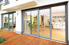 smarts systems visoglide aluminium patio door & Gorgeous Large Sliding Patio Doors 6 Panel Triple Track Aluminium ...