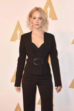 Fabulously Spotted: Jennifer Lawrence Wearing Stella McCartney - 2016 Annual Academy Awards Nominee Luncheon - http://www.becauseiamfabulous.com/2016/02/09/3189336/