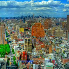 An uptown view of New York City