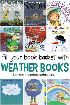 Young learners can learn all about the weather with the books featured in this collection of weather books for preschool and kindergarten.
