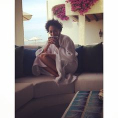 Tia Mowry Rocks Her Fro on Mexican Anniversary