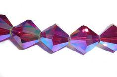 Swarovski Crystal Bicone Ruby AB2x | JBCBeads.com || #july #birthstone #ruby #Swarovski #crystal #beads #jewelrymaking