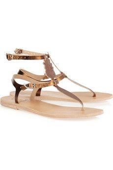 10d492e9ade48 ANCIENT GREEK SANDALS Aphrodite metallic leather sandals Ugly Shoes