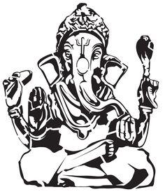 God Stencils | Ganesha Vector The Indian God by ~5starbrand on deviantART