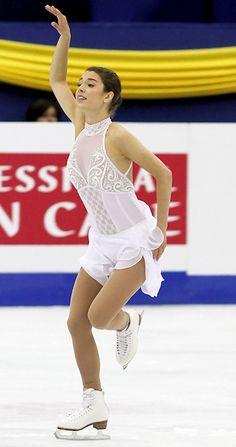 Alissa Czisny - White Figure Skating / Ice Skating dress inspiration for Sk8 Gr8 Designs.