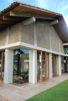 Modern Tropical, Tropical Design, Tropical Houses, Facade Design, Exterior Design, House Design, Tropical Architecture, Interior Architecture, Thai House