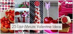 25 great last minute Valentine's Day ideas (recipes & crafts) - some great links!