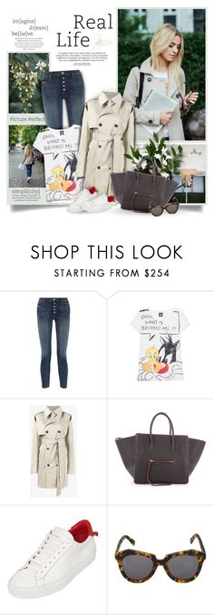 """""""Ohh,Who Is Behind Me?"""" by thewondersoffashion ❤ liked on Polyvore featuring Mother, Frogbox, Y/Project, CÉLINE, Givenchy and Karen Walker"""