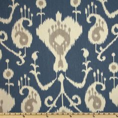 Magnolia Home Fashions Java Ikat Yacht Blue - Discount Designer Fabric - Fabric.com  $8.98 yard